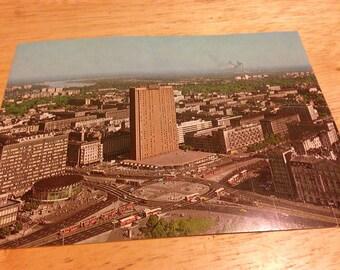 Warsaw, Poland Postcard 1970's