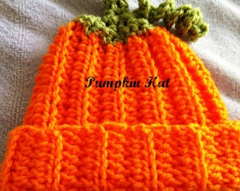 Newborn Crochet Pumpkin Hat