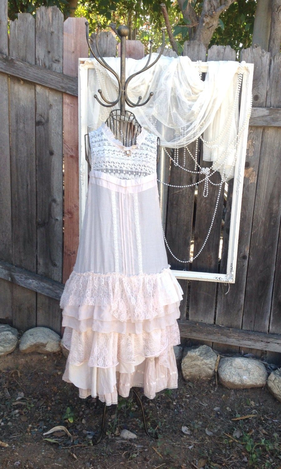 Pictures Of Shabby Chic Wedding Dresses : Country cottage weddings dress gypsy shabby chic upcycled