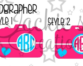 Photographer Monogram Decals/Camera Monogram Decals
