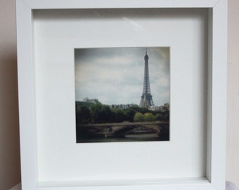 Eiffel Tower, Paris box-framed photographic art - photography - framed print - travel - France -  10x10 inches, 5x5 inches