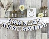 Bridal Shower Banner, Bridal Shower Decor, Soon to be Banner, Hens Party