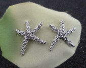 Crystal Starfish Stud Earrings
