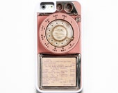 iPhone 5 Case. iPhone 5S Case. Silicone Lined Tough Case.  Vintage Pink Payphone. iPhone Case. Phone Case. Case for iPhone 5.