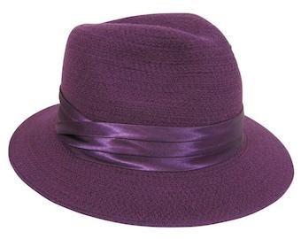 Plum Wool Fedora Hat
