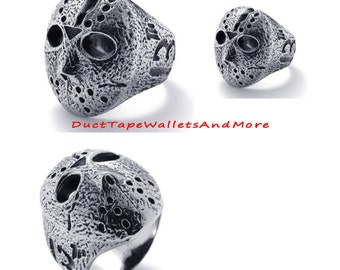 Jason Voorhees Friday the 13th Mask Ring Size 10 Men\Woman Fashion