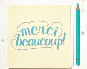 Merci Beaucoup, Thank You Card