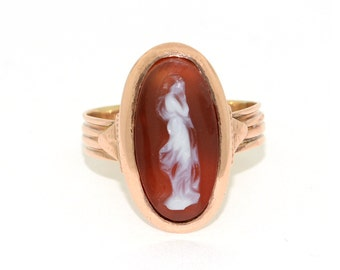 Antique Victorian Cameo in 15k Rose Gold