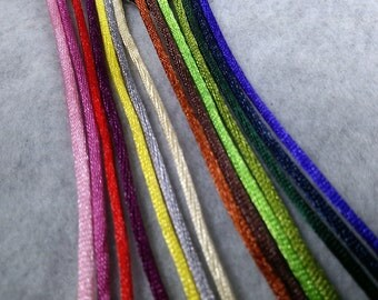 Rattail Satin 1.5mm Cording for Kumihimo, Jewelry Making ~ 20 yards, choice of colors ~ DISCONTINUED COLORS