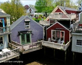 Kennebunkport Balconies 8 x10 Photograph - Colorful Shops of Seaside Town in Maine