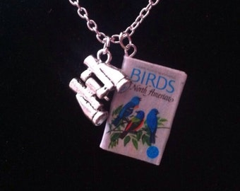 Birds of North America Mini Book Necklace