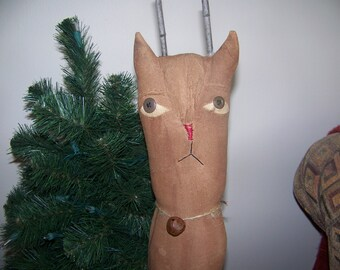 Primitive Reindeer Bobbin Holiday Christmas Decor