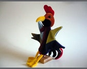 Béla, the rooster - hand puppet