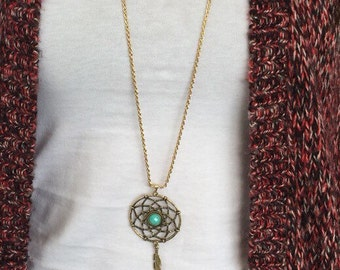Bohemian Dream Catcher Long Necklace