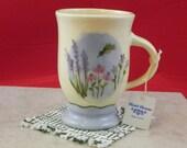 Hand Painted Stoneware footed mug