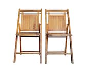 Vintage Pair of Folding Chairs -- Set of 2