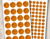 Basketballs, Set of 24 or 84 - Perfect for Erin Condren, Limelife, Mambi and Plum Paper Planners