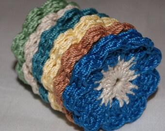 Fall Colors 12 Crochet Appliques, Crochet Flower Appliques, Handmade Embellishments, Clothing, Scrapbooking, Home Decor Accents, DIY