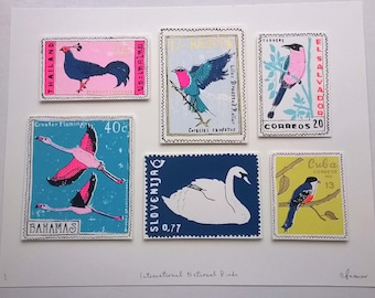 International national birds 1 (featuring entirely made up stamps)