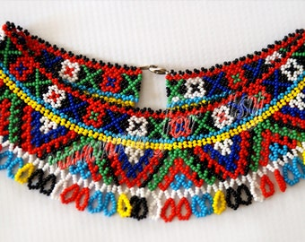 Ukrainian folk decoration on the neck - sylyanka. Handmade 100%.