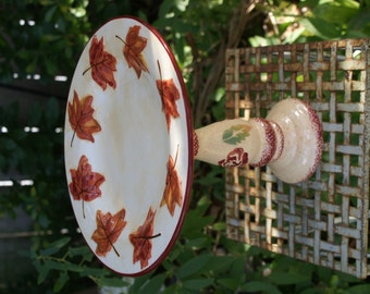 Maple Leaf Decorative Serving Stand