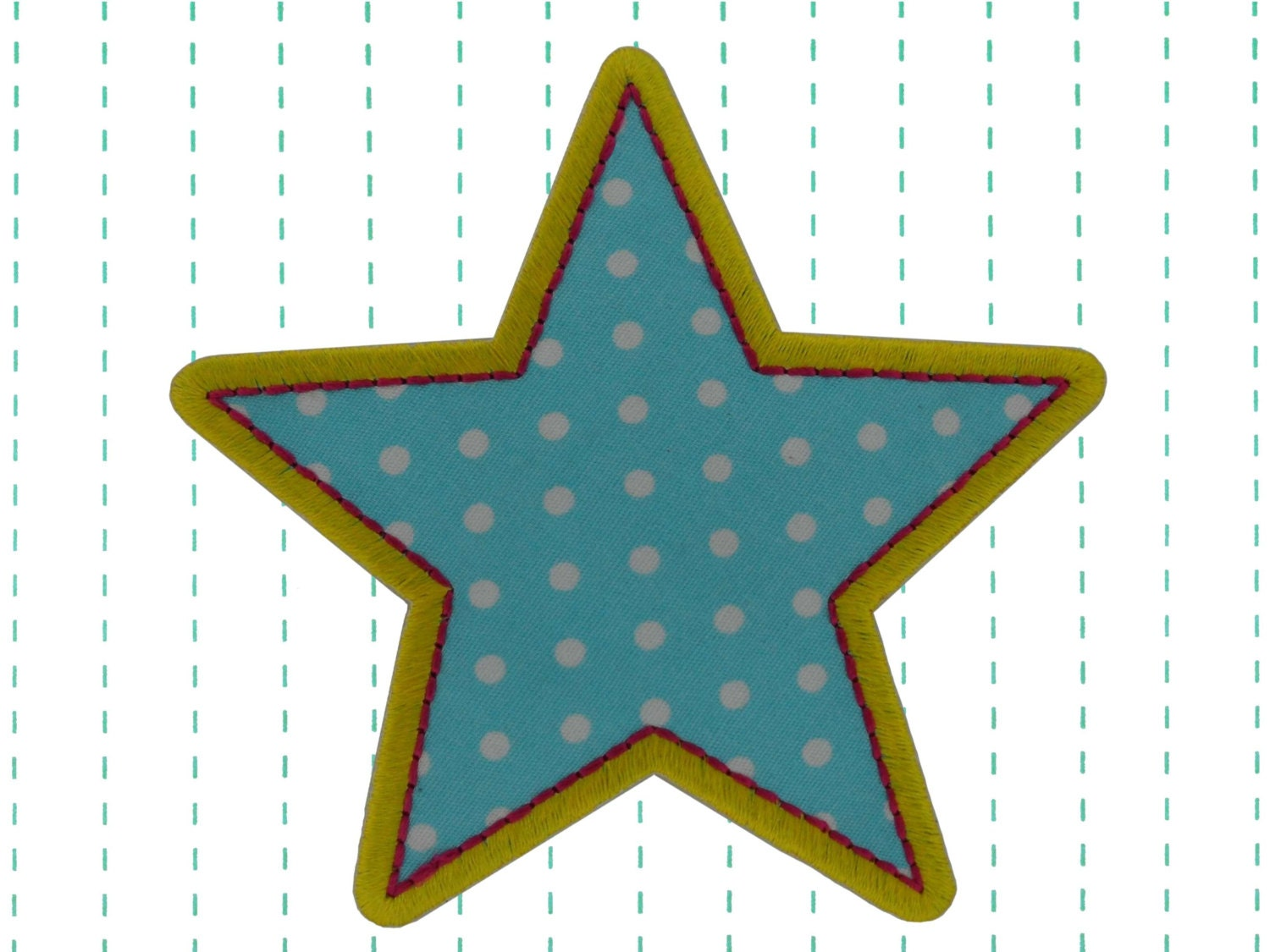 Star Iron On Applique Patch