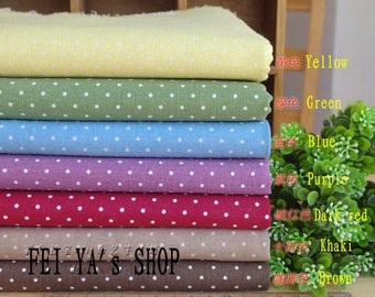 7 pieces Polka Dot Group Series Color Collection Cotton Cloth Quilt Fabric-DIY Handmade Fabric Cloth