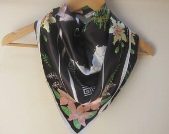 Norfolk Island souvenir scarf, south seas scarf,  bright sqaure scarves, ladies square scarves, vintage scarves