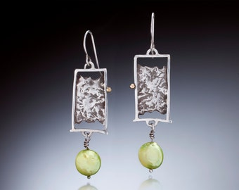 Sterling Silver with coin pearls