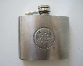 Flask 5 oz Stainless Steel Bat Embossed Vintage E658s