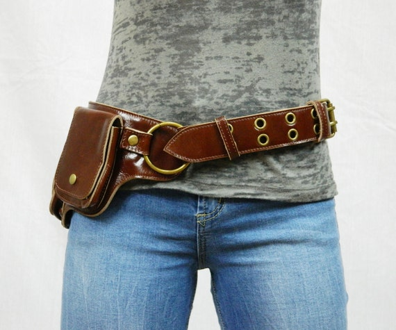 hip pack leather utility belt brown largest by wccouture