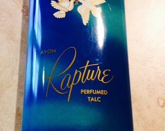 Vintage Avon powder tin, full Rapture Talc