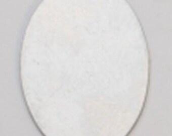 Nickel Silver Oval 25mm x 18mm 24ga Package Of 6