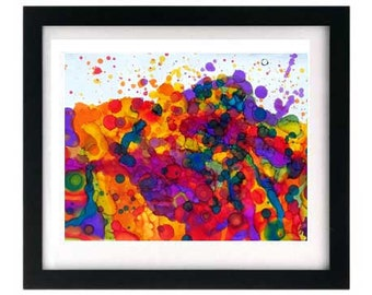 11 x 8.5 Abstract Expressionism Art Print, Signed & Numbered