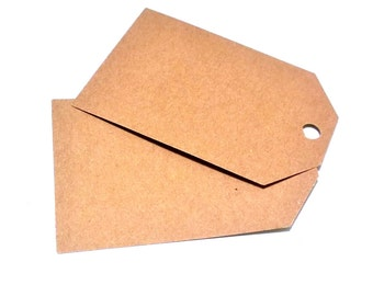 Kraft Cardstock, Tags, Gift Tags, Earring Cards, Jewelry Cards, Rectangle Tags