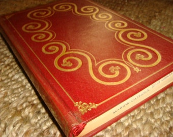 1975 Fathers and Sons Ivan S. Turgenev Book Red Boards Gold Font Print Russian Book