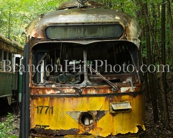 Pittsburgh Trolley abandoned photography street Car