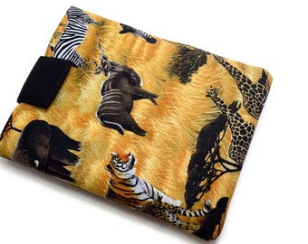Hand Crafted Tablet Case from African Wildlife Fabric /Case for:iPad, Kindle Fire HDX, Samsung Galaxy Tab, Google Nexus, iPad Air, Nook HD