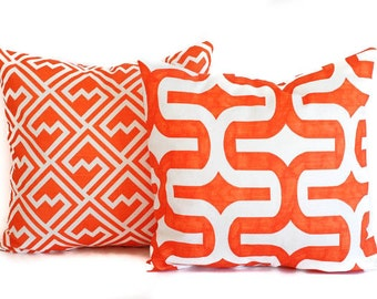 Orange pillow covers pair cushion covers orange throw pillow cushion covers pillow cases