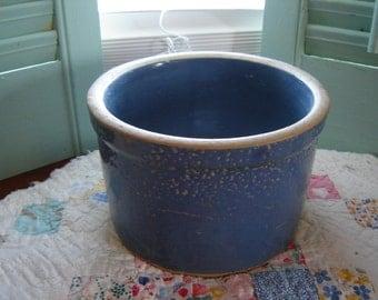 Vintage antique blue stoneware crockery collectible stoneware kitchen decor home decor French Country decor