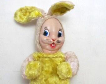 Rubber Face Bunny Rabbit Plush 1950's Retro