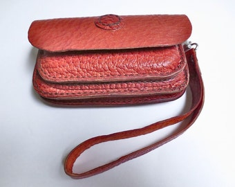 Leather clutch purse, leather belt bag, leather hip bag, leather wristlet, leather belt case, clutch wallet