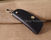 New Leather Key Holder , Leather key bag , Car key bag, black 1pcs