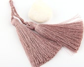 Burly Wood, Silk Thread Tassels, 2 pieces - Jewelry Supplies  // TAS-016