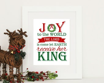 Christmas Decor Joy to the World Print Digital Download PDF INSTANT DOWNLOAD 8x10