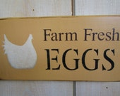 Handmade Wood Sign - Farm Fresh Eggs