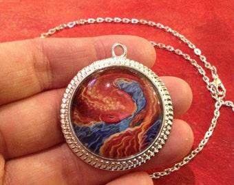 Why so Koi? Art pendant, fish pendant