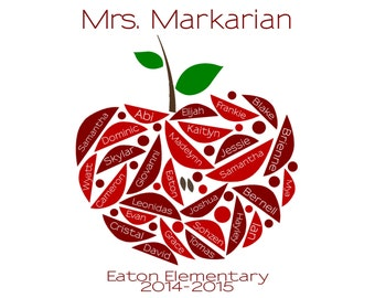 Teacher's Gift Personalized/Custom Class Apple Digital Delivery