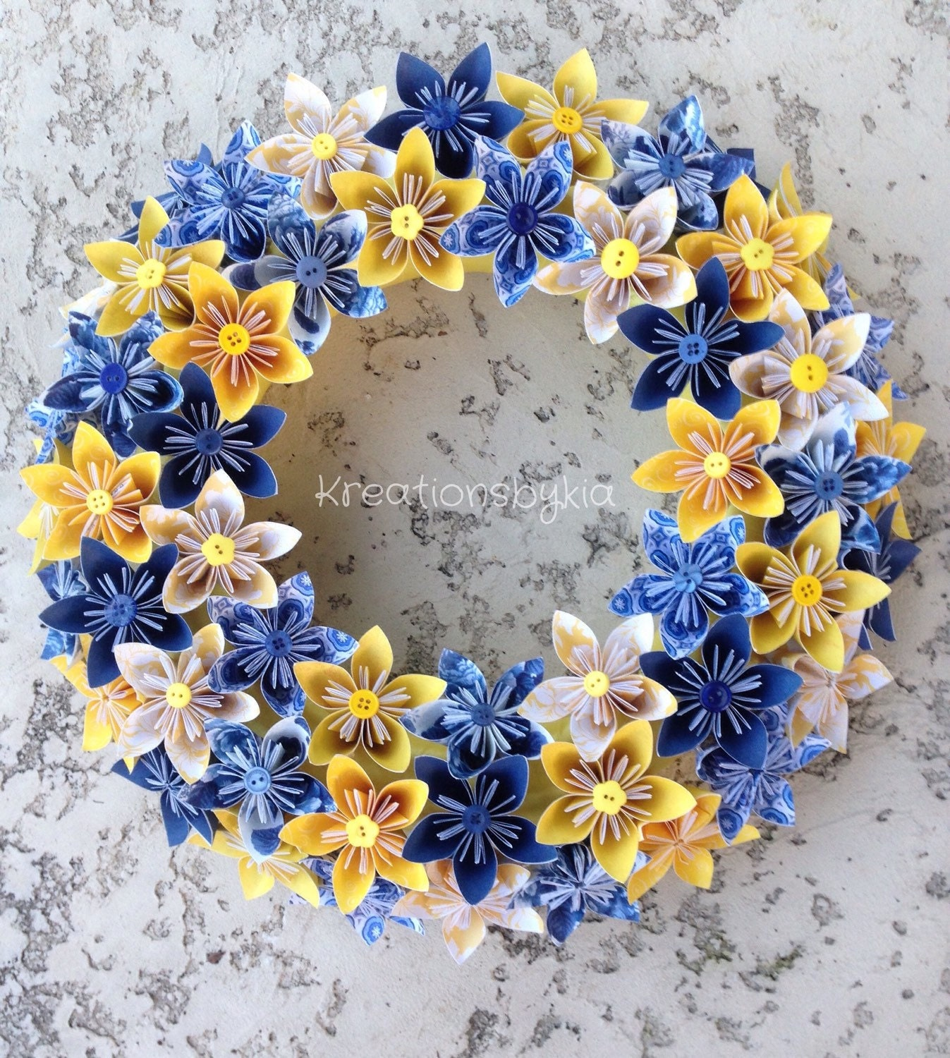 Origami Paper Flower Wreath origami paper flowers paper