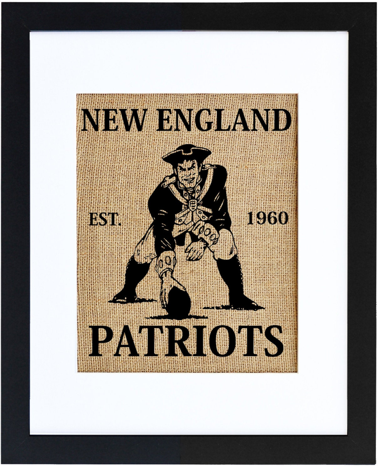 New England Patriots Football Patriots Art Burlap Wall